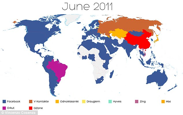 The World dominated by Facebook blue