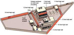 Department of Defense Diagram of Osama bin Laden Compound in Abbottabad via New York Times