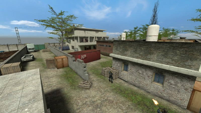 Osama Bin Laden Compound in Abbottabad reconstructed as a map for Counter Strike PC game
