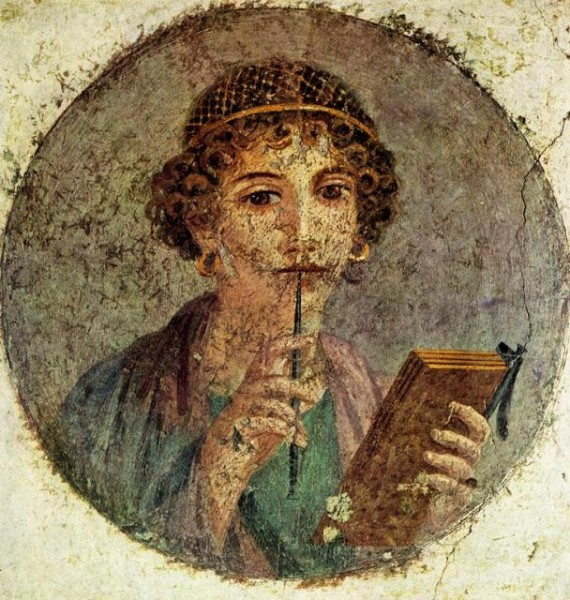 Pompeii: Young Woman with a Stylus (Sappho)