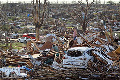 Joplin, Missouri, USA, tornado devastation May...
