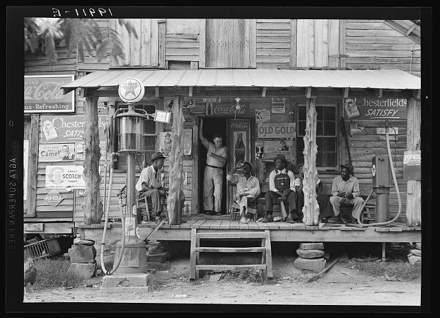 Country Store on a Dirt Road by Dorothea Lange