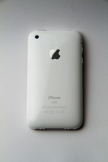 English: the Back of an iPhone 3G White from Apple