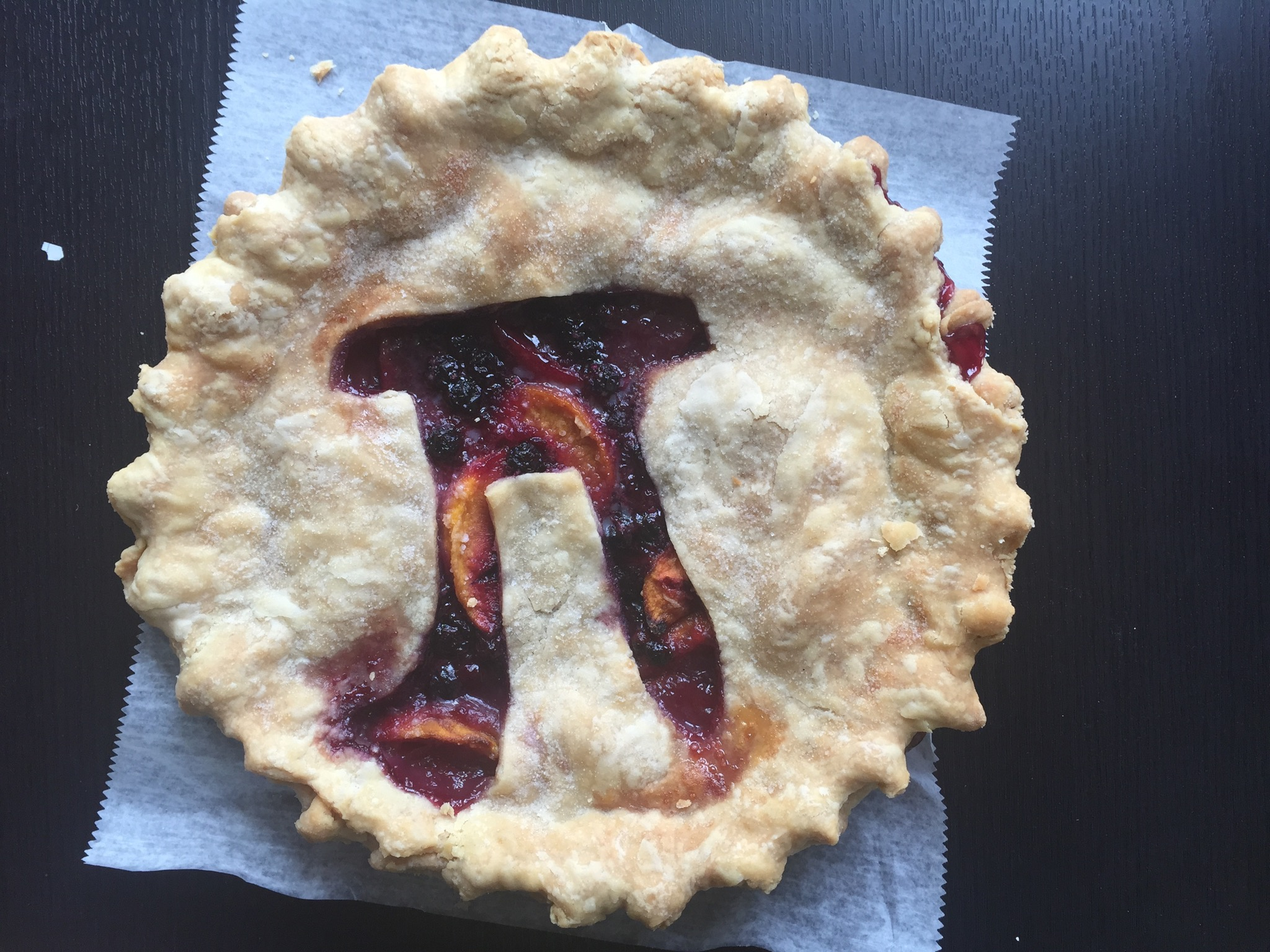 Pi Day Pie (Peach Berry - My Sugar Pie Bakery, Zionsville Indiana)
