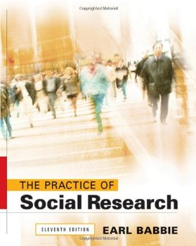 "Cover of ""The Practice of Social Research..."