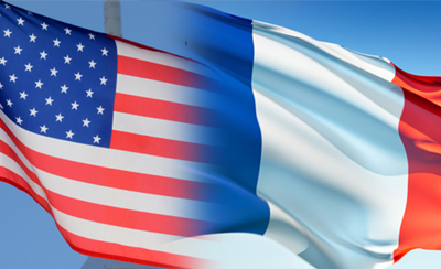 FrenchAmericanFlags