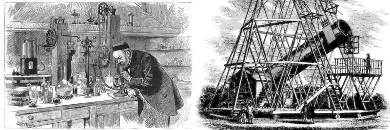 Microscope vs. telescope