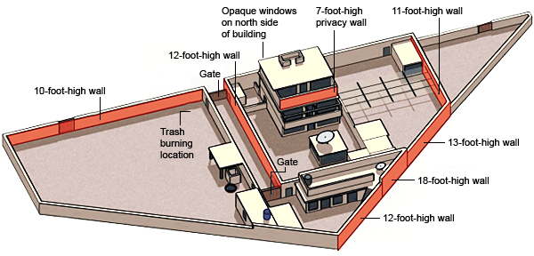 map of osama bin laden killing site and mansion recent